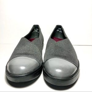 Munro Gray Textile&Patent Leather Loafers Sz8
